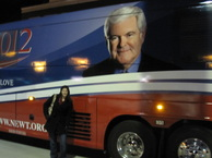 newt gingrich bus, 2012