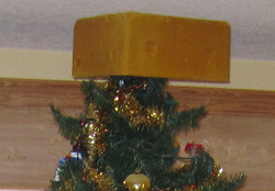 chesse head tree topper